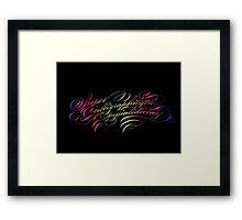 Supercalligraphilisticexpialidocious Framed Print