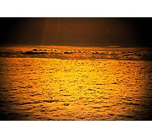 do angels sleep in golden clouds? Photographic Print