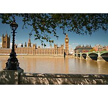 Thames View of Big Ben and Houses of Parliament Photographic Print