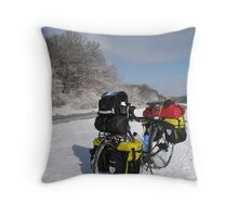 January: Snowstorm-Carbondale, IL Throw Pillow