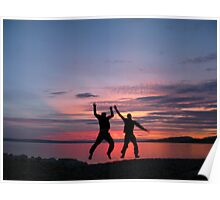 May: Adriatic sunset with Fabien - Kraljevica, Croatia Poster