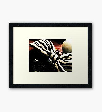 Black and White Bow Framed Print