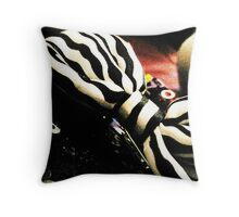 Black and White Bow Throw Pillow