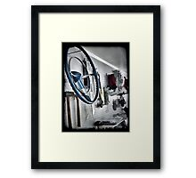 Garage Wall Framed Print