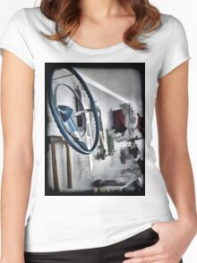 Garage Wall Women's Fitted Scoop T-Shirt