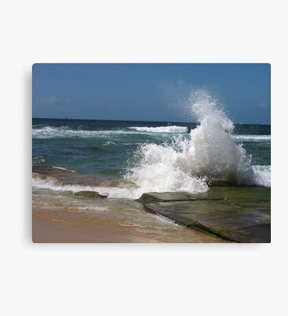 bar beach wave Canvas Print