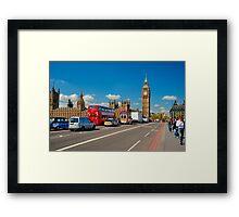 Westminster Bridge: Showing Big Ben Framed Print