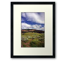 Wyoming Sky Framed Print