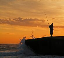Lone Fisherman IV by annadavies
