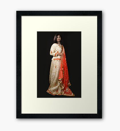 The Indian Beauty Framed Print