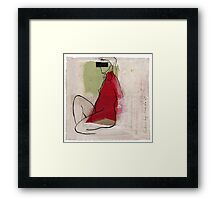 woman profile Framed Print