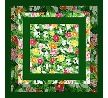 Floral Pattern Art Quilt II Photographic Print
