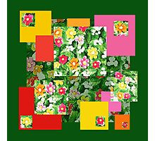 Floral Pattern Art Quilt I Photographic Print