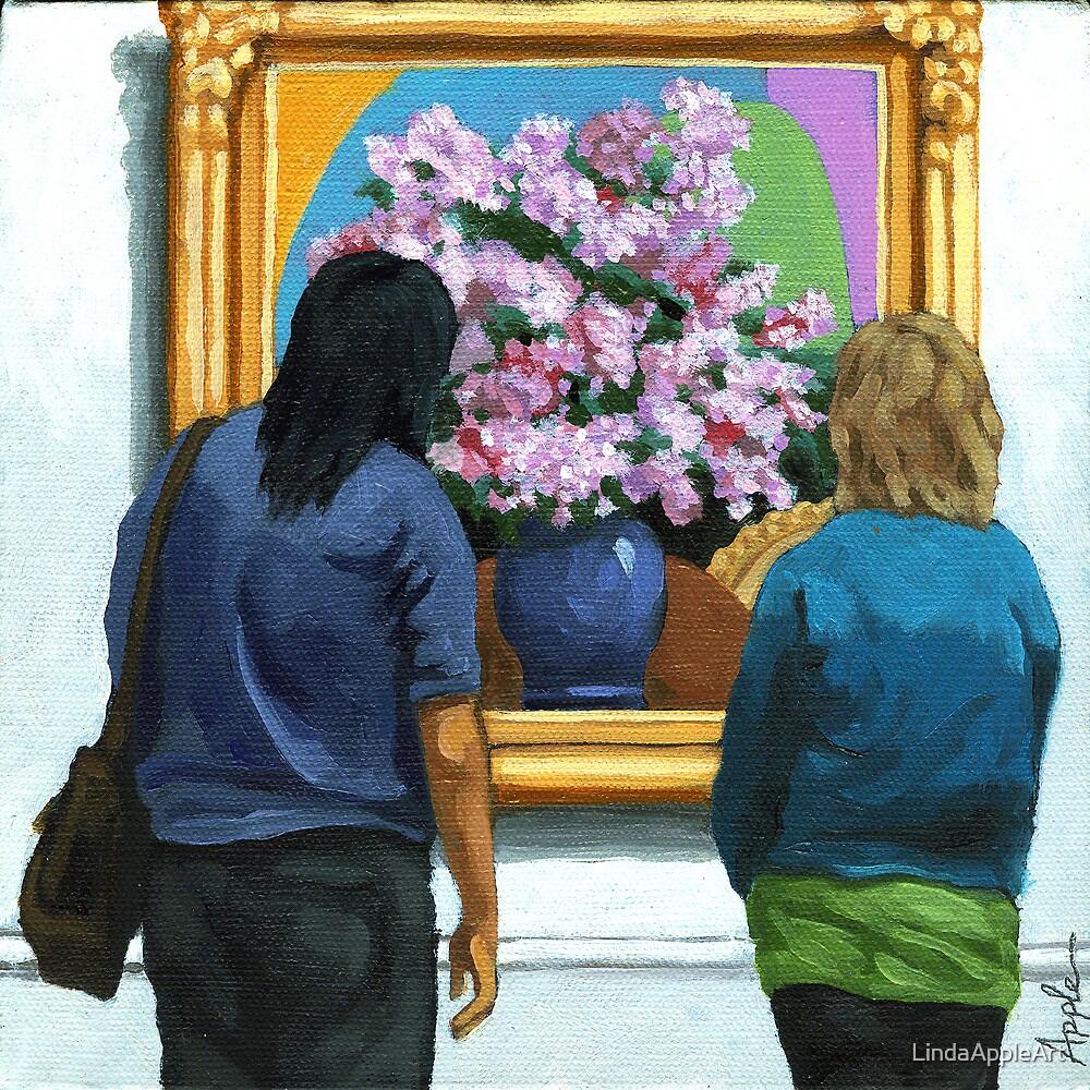The Lilacs - women portrait by LindaAppleArt