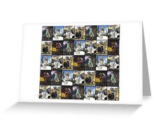 Giants Series Block Pattern Greeting Card