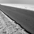 Into The Distance - Desert road, Mauritania by helenlloyd