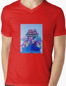 It's a Small World Mens V-Neck T-Shirt
