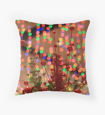 Festive tree topper Throw Pillow