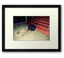 The Man Without A Head ★ Drink Different Framed Print