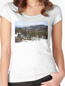 Mirror Lake Inn, Village of Lake Placid NY > Women's Fitted Scoop T-Shirt