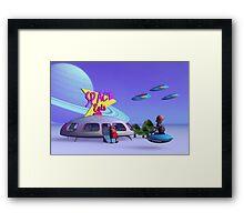 Space Eats Cafe Framed Print