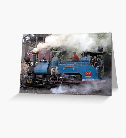 India - Darjeeling - Toy train Greeting Card