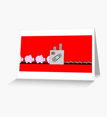 Makin' Bacon Greeting Card