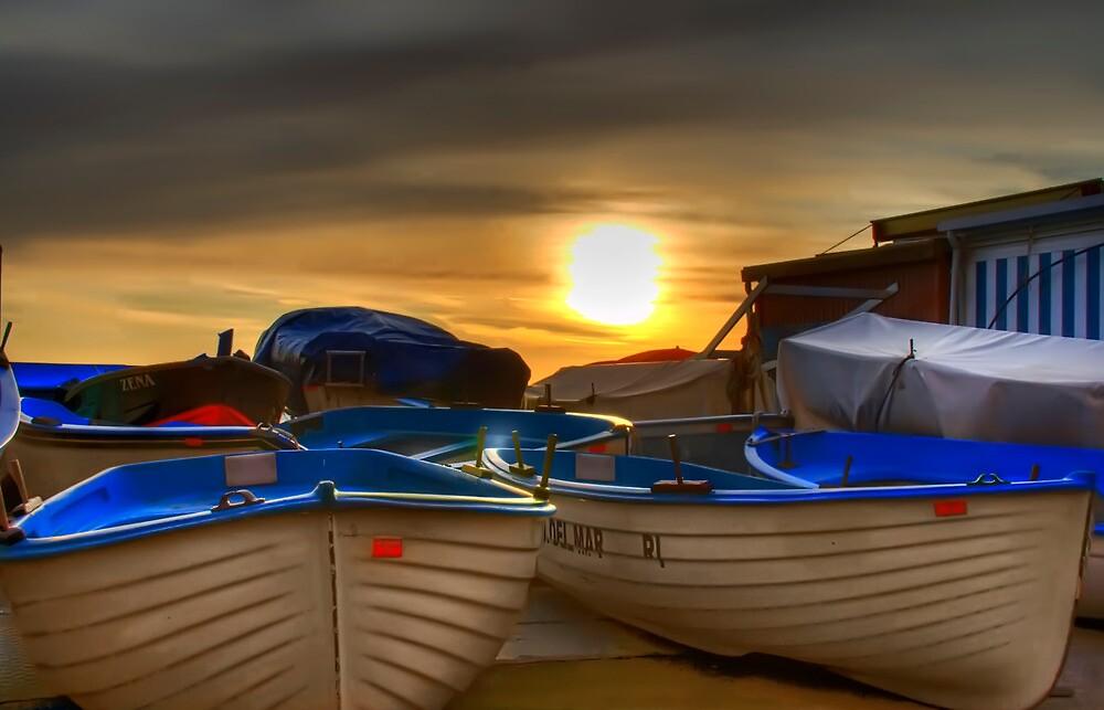 sunset beach by oreundici