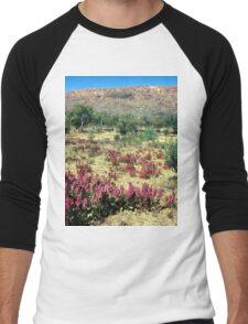 a vast Australia landscape Men's Baseball ¾ T-Shirt