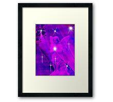 A Sprinkle of Stars For Christmas Angel Framed Print