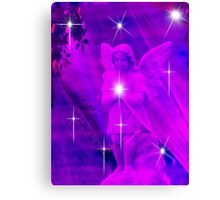 A Sprinkle of Stars For Christmas Angel Canvas Print