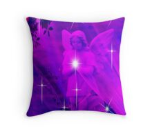 A Sprinkle of Stars For Christmas Angel Throw Pillow