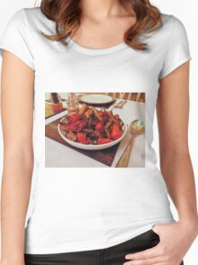 Roast Garden Vegetables with Mustard and Honey Women's Fitted Scoop T-Shirt