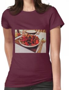 Roast Garden Vegetables with Mustard and Honey Womens Fitted T-Shirt