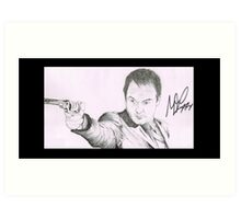 Crowley - Mark A. Sheppard Hand Drawing (Signed) Art Print