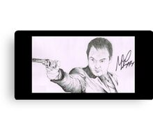 Crowley - Mark A. Sheppard Hand Drawing (Signed) Canvas Print
