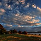 Lake Taupo Dusk by Russ Underwood