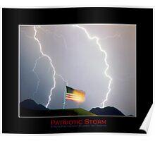 Patriotic Lightning Storm Poster