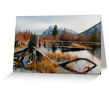 Vermillion Lakes & Mount Rundle Greeting Card