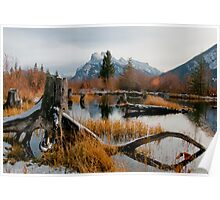 Vermillion Lakes & Mount Rundle Poster