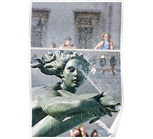 Trafalgar Square Fountain Poster
