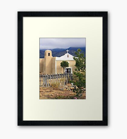 San Francisco Church, Golden, New Mexico Framed Print