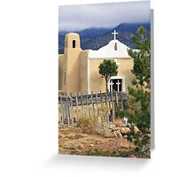 San Francisco Church, Golden, New Mexico Greeting Card