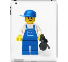 Oil mechanic minifig with an oil can iPad Case/Skin