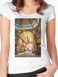 Leadenhall Market, City of London Women's Fitted Scoop T-Shirt