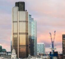 City of London Evening Skyline Sticker
