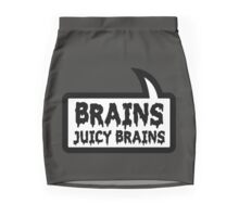 BRAINS JUICY BRAINS by Bubble-Tees.com Mini Skirt