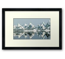 3D Mountains Framed Print