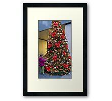 Tali & Christmas Tree 34th Street NYC Framed Print