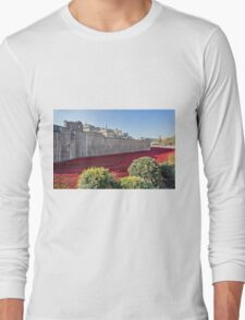 Tower Of London Poppies Long Sleeve T-Shirt